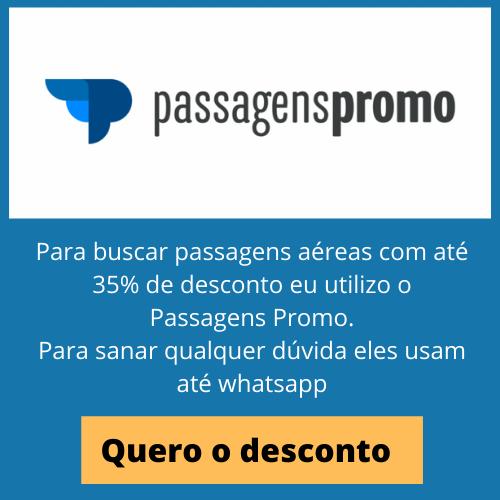 Para buscar passagens aéreas com até 35% de desconto eu utilizo o Passagens Promo. Para sanar qualquer dúvida eles usam até whatsapp
